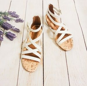 Avenue Cloudwalker White Sandals NIB